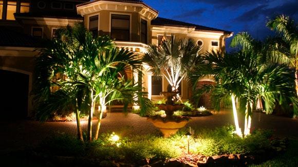 Aplicação do Refletor de LED em Jardim