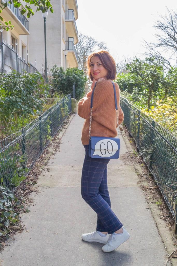 noisette, écureuil, pantalon à carreaux, look, mode, fashion, blog, blogueuse, paris, sneakers, monoprix, pantalon raccourci