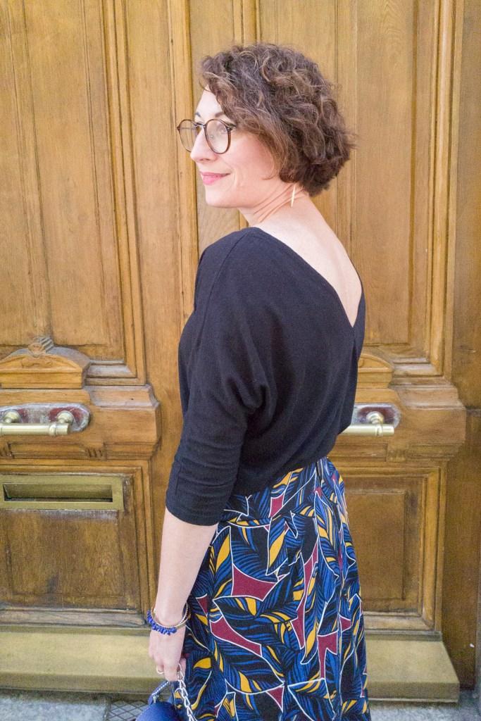 jupe midi wax ethnique camaïeu paris parisienne blog mode faschion porte parisienne été