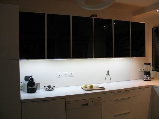 eclairage led plan de travail cuisine