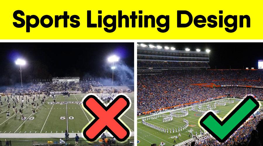 best lighting design for football field