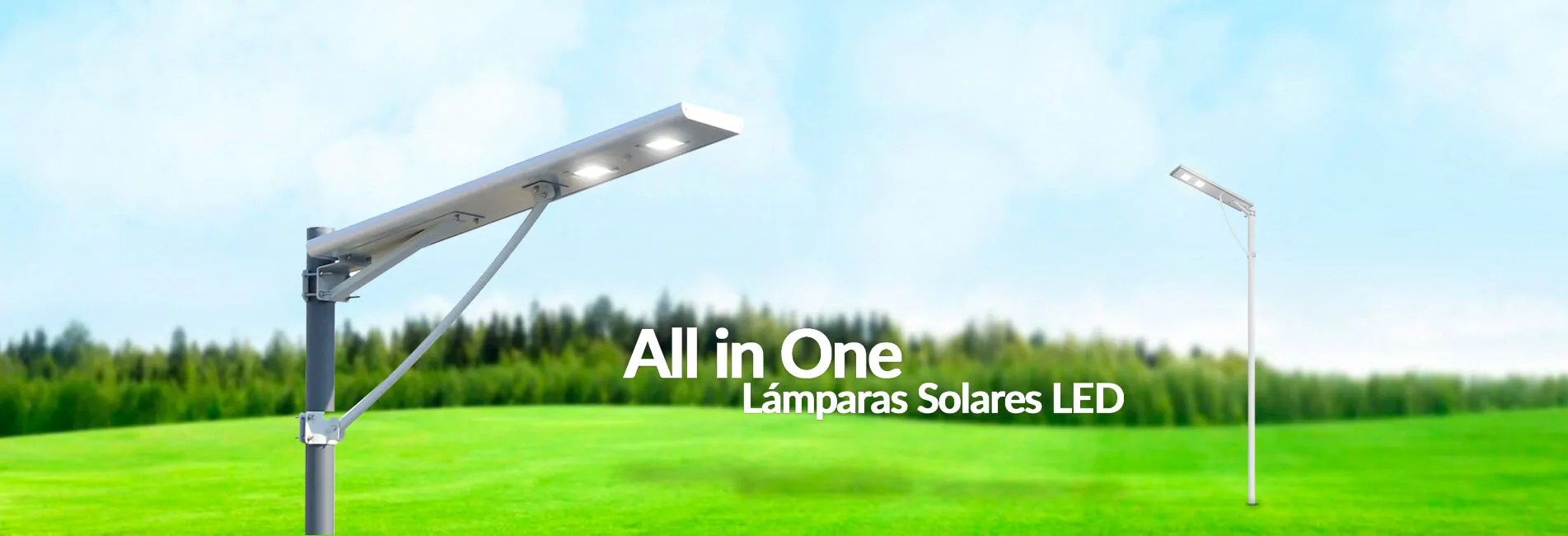 Lámparas Solares LED All in one
