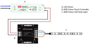 How to Wire an RGB Colour LED Strip Light (diagram included) | Blog