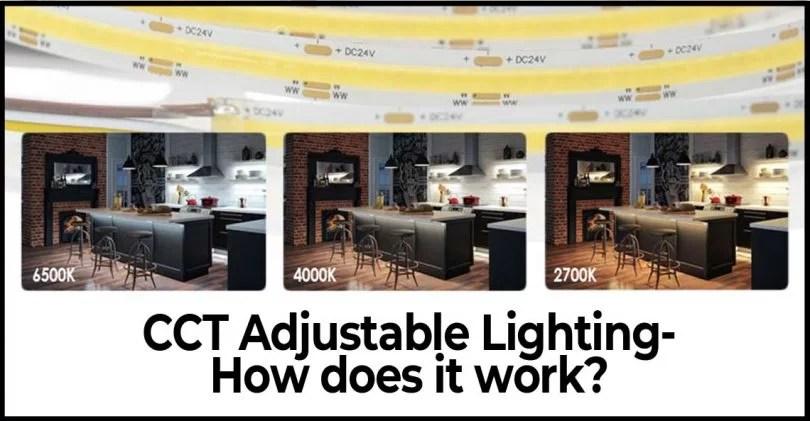 tunable white lighting adjusting led