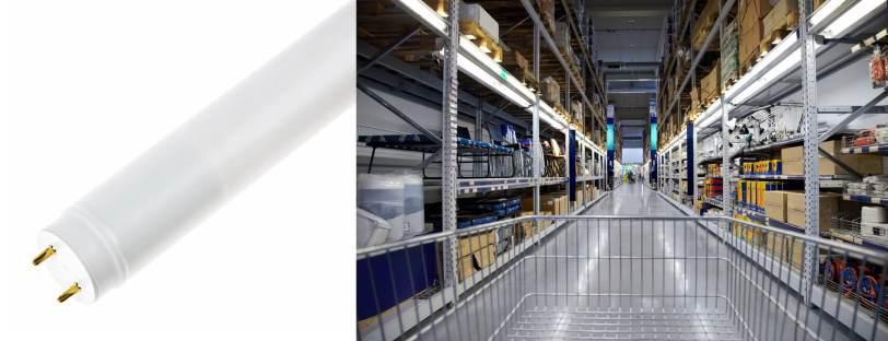 tubo led para comercios