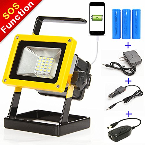 sunzone 10w 24 led portable work lights flood light for camping fashing car repairing lighting with