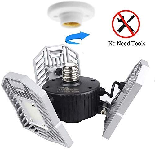 1000W Equivalent Construction Site NextLED 10000LM 110 W LED Work Light ETL Certified 180//360 Degree Adjustable Lighting Angles Stand Working Light for Workshop IP 65 Water Proof Flood Light