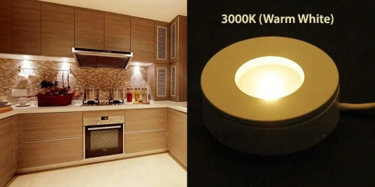3W led puck light 3000k