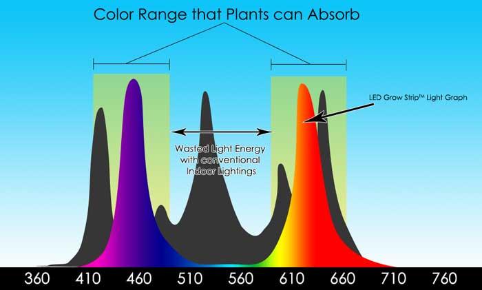 LED Grow Strip Light Graph