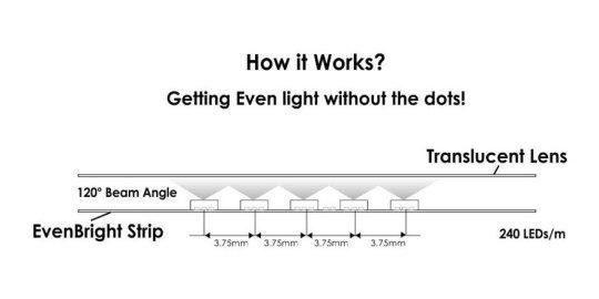 12V EvenBright LED Strip