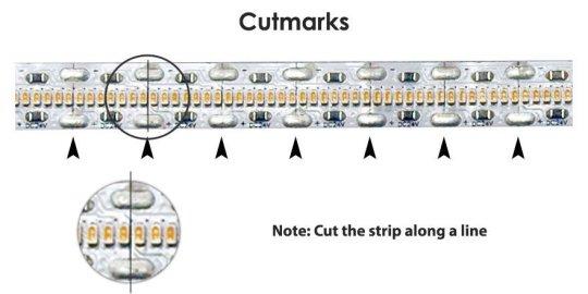 Even Brighter strip cutmarks