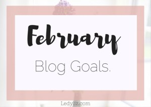 February  blog goals and review