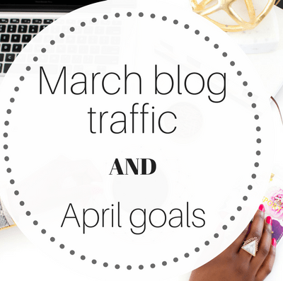 March blog traffic and April goals.
