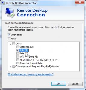 RDP Configuration