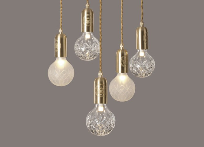 Crystal Bulb Frosted Chandelier