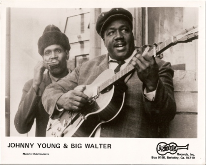 publicity photograph from Arhoolie records - Big Walter Horton with Johnny Shines