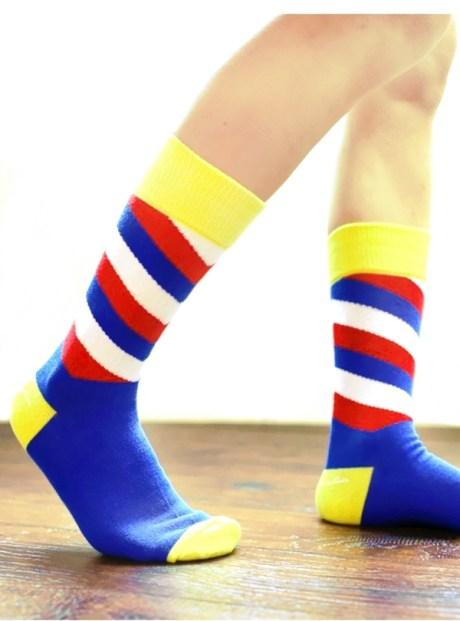 亮麗時尚斜紋襪子