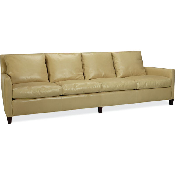 l1296 44 leather extra long sofa at lee industries