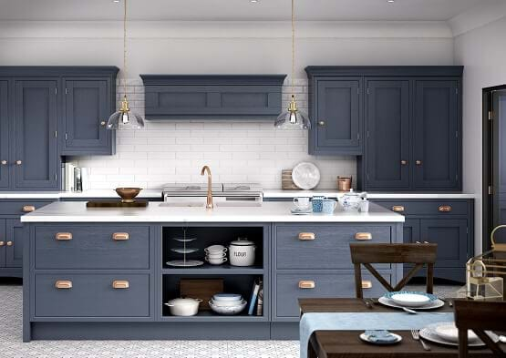 Blue Kitchens Leekes Kitchens