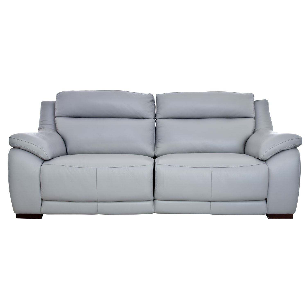 casa pedro 3 seater manual recliner leather sofa