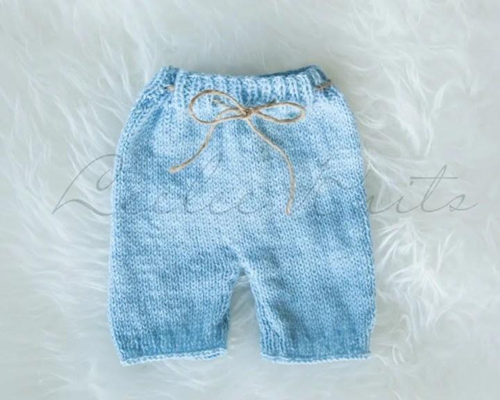 Newborn Baby Knit Shorts Pattern Leelee Knits