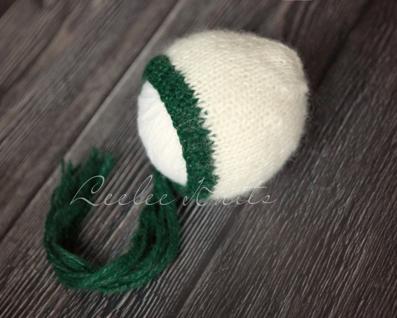 Newborn Baby Bonnet Knitting Pattern