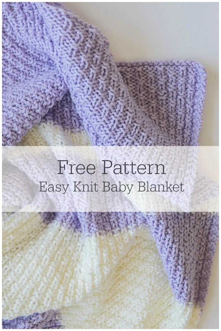 Easy Knit Baby Blanket Pattern - Leelee KnitsLeelee Knits