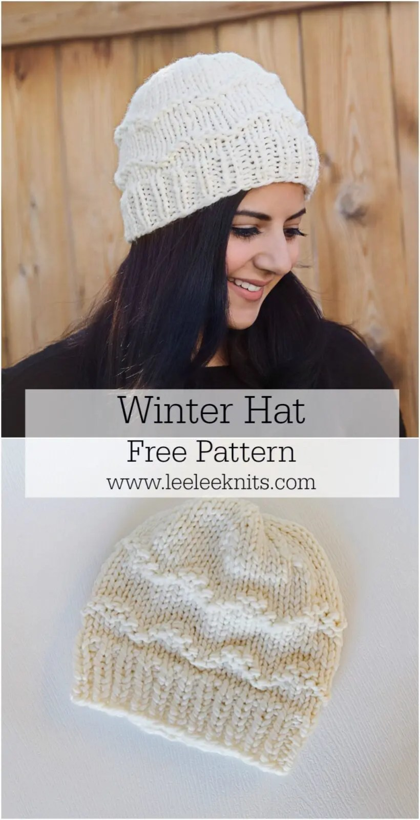 The Coziest Winter Hat Knitting Pattern - Leelee Knits