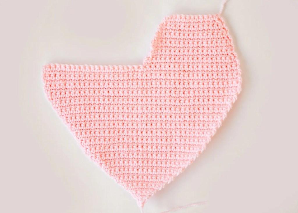 Heart Pillow Crochet Pattern
