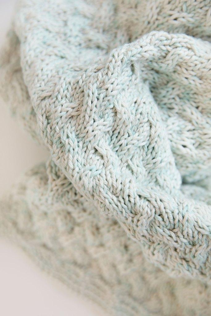 Waterfall Baby Blanket Leelee Knits