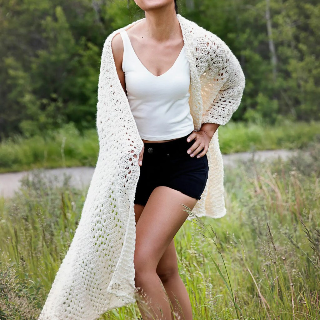 Knitted Wrap Pattern for Boho Shawl