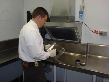 Police Department Fingerprint Lab