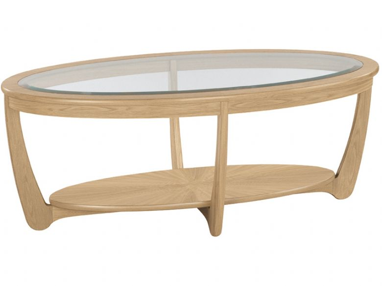 nathan furniture shades range glass top oval coffee table
