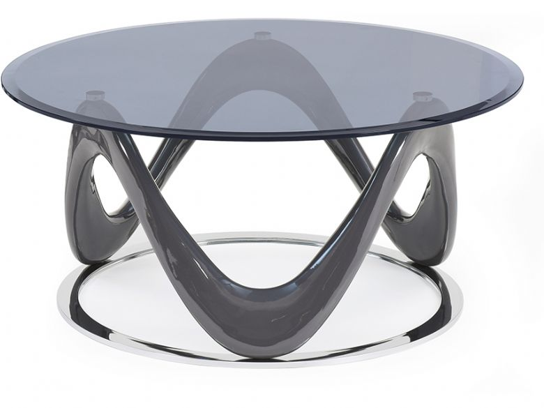 swirl round coffee table