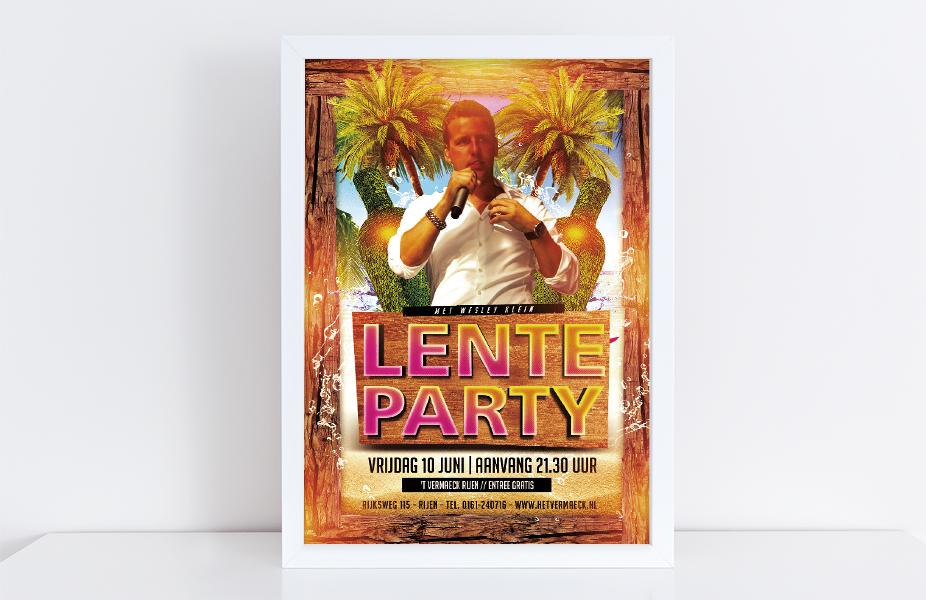 Leenaars Design | Grafisch ontwerp en webdesign | Poster Lenteparty