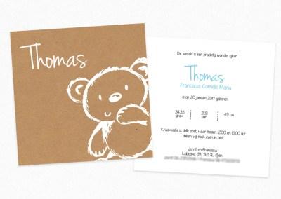 Geboortekaartje Thomas