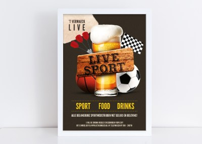 Poster Live Sports
