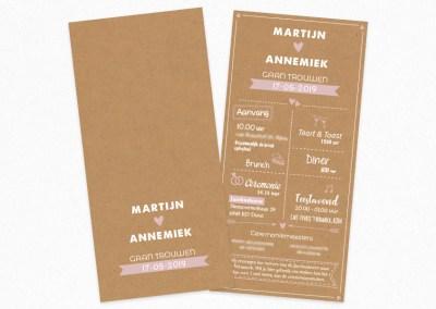 Trouwkaart Martijn & Annemiek