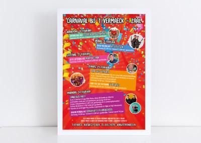 Poster Carnaval 't Vermaeck
