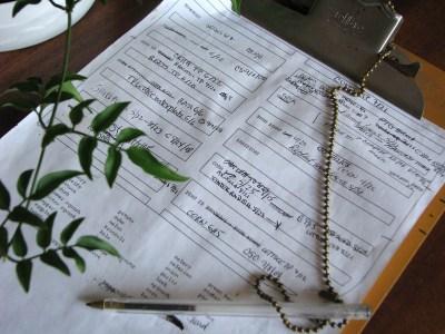Garden planning on paper