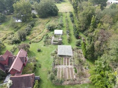Aerial view of farmden