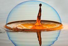 Gota de agua con jabón