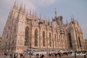 Full Panorama of Milan Duomo