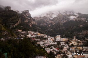 Positano from the road to Sorrento