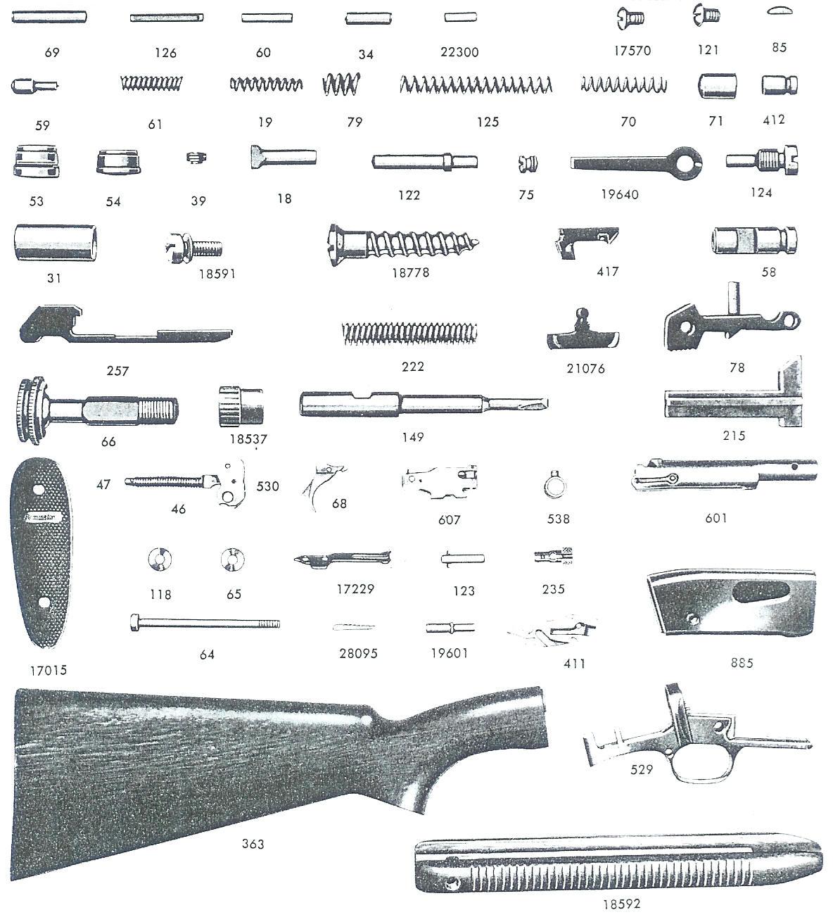 Remington Model 742 Disassembly Diagram Remington870partsdiagram Nylon 66 Parts