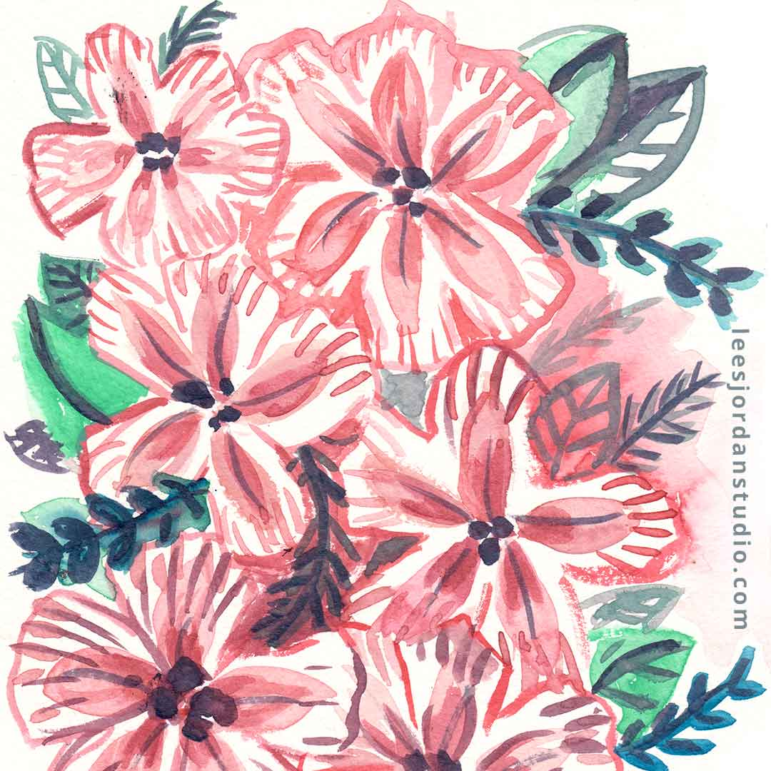 pink flowers 1080 square size