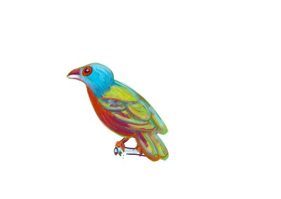 Colorful bunting bird #100daysofdigitalsketch