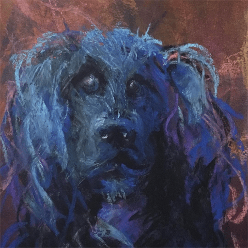 portrait of molly the dog