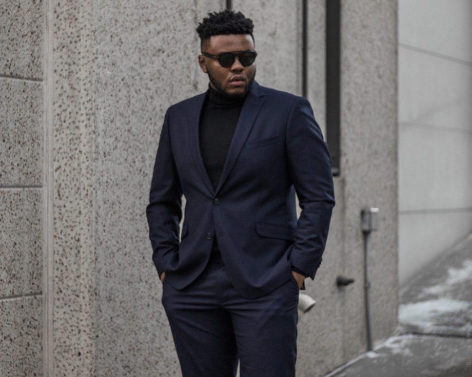 Kenneth Cole Slim-Fit Dark Blue Suit Styled 3 Ways