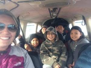 Kids on the Way to Camp Sivu
